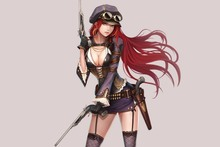 erotic girl steampunk weapons PDM346 wall art canvas fabric poster print for room decor home decoration (frame available)