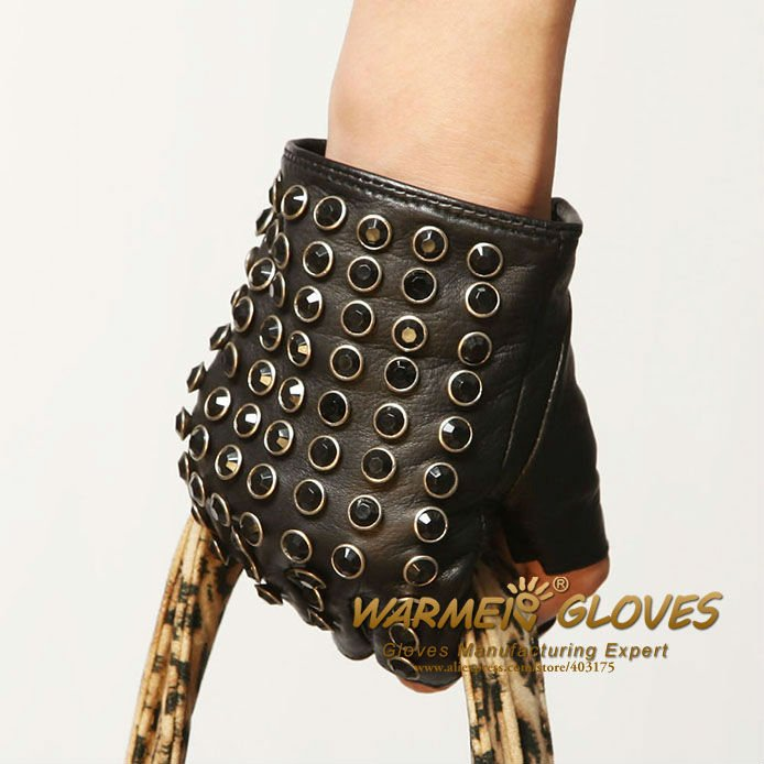 Gloves Wholesale Free Shipping Womens fashion leather