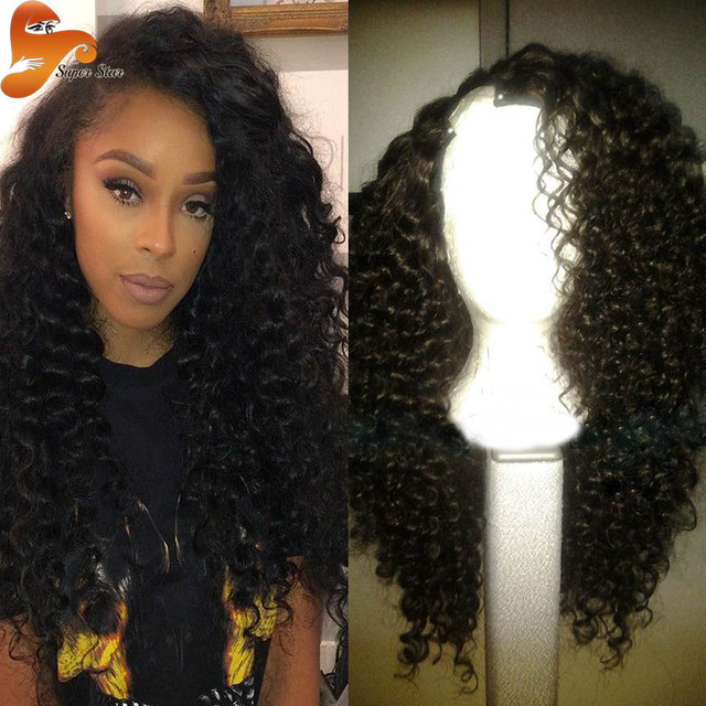 8A Cheap U Part Human Hair Wigs For Black Women Brazilian Virgin Hair U  Part Wigs Deep Curly UPart Wigs For Sale With Baby Hair 3a5938c06a