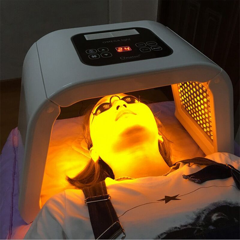 LED détachable masque Facial 7 couleurs Photon luminothérapie beauté spectromètre rajeunissement de la peau rides élimination de l'acné resserrer les Pores
