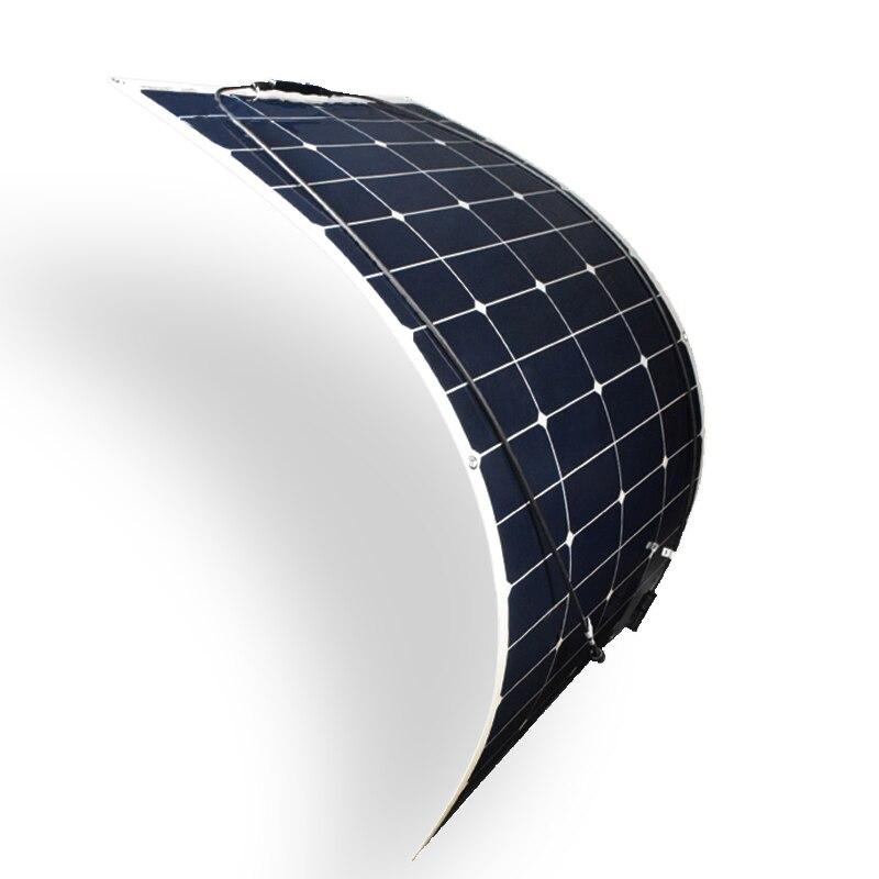 1pcs 5pcs 100w 18v Flexible Solar Panel Sun power Panels Cells 12 Vot Battery marine Yacht Car Diy Kit Outdoor Charger Camping