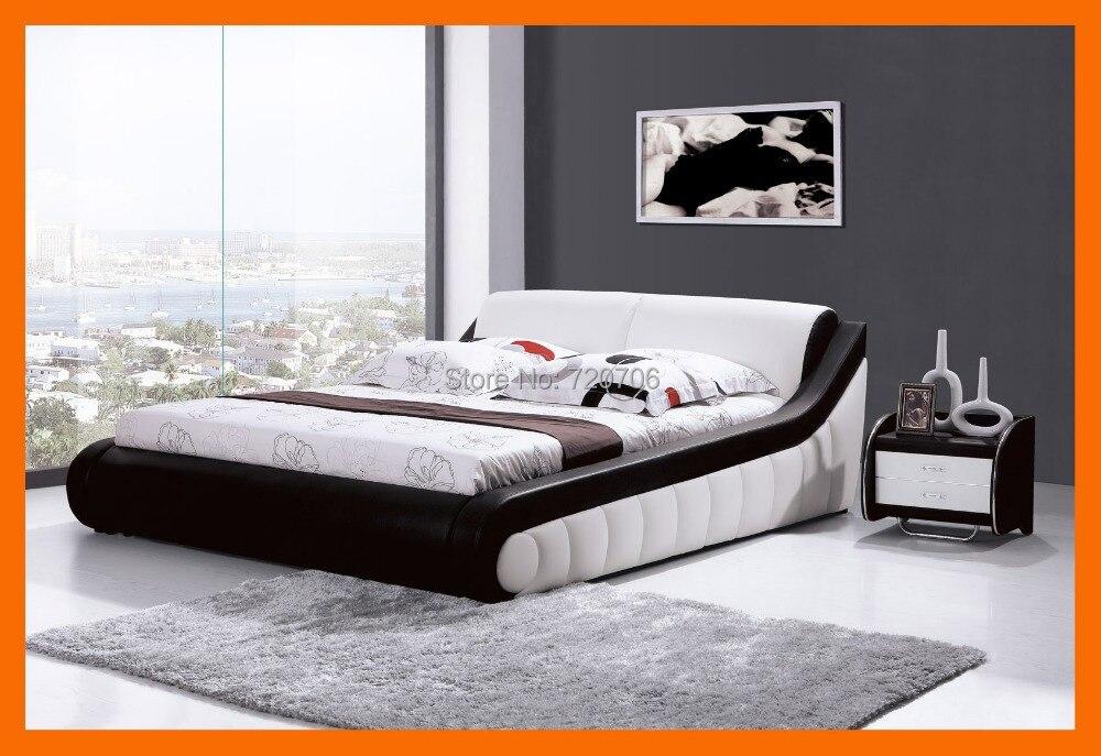 Modern Leather Bed Bedroom Set Furniture Mini Order 2500