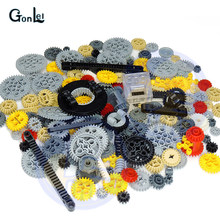200Grams/Lot 24 Kinds Technic Parts Building Blocks Bulk Gear Studless Beam Arms Pin Connctor Axle Car Truck Bricks Toy(China)