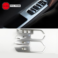 1 Set ABS Car Styling Window Switch Panel Trim Frame Sticker Cover Decoration for Hyundai Creta IX25 Interior Moulding Accessory