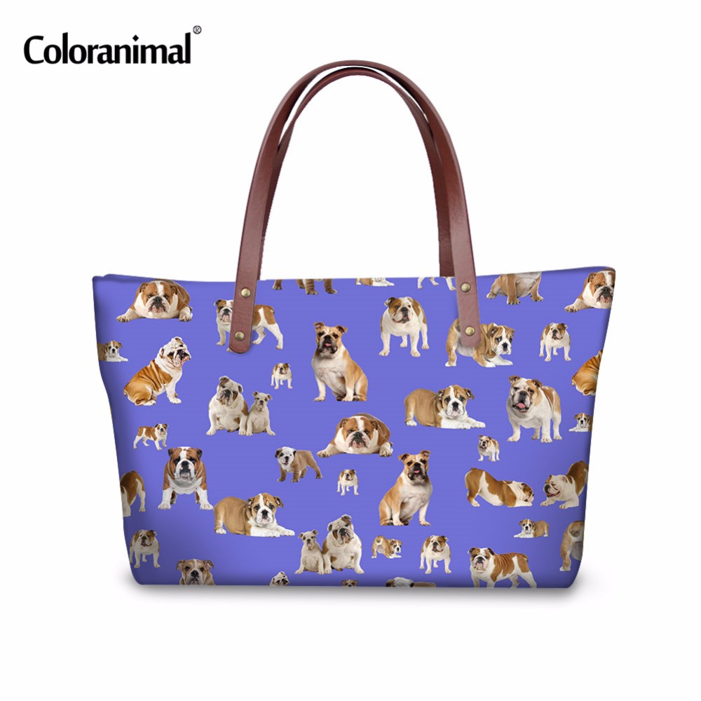 Coloranimal Funny 3D Animal Pug Dog Chicken Women Travel Shopping Large Handbag Female Shoulder Bag Famous Design Girl Tote bag high quality authentic famous polo golf double clothing bag men travel golf shoes bag custom handbag large capacity45 26 34 cm