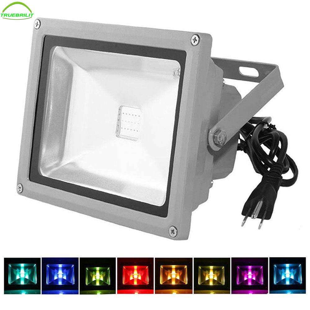 50w waterproof outdoor security led flood light spotlight high 50w waterproof outdoor security led flood light spotlight high powered rgb color change16 different color tones with plug aloadofball Gallery