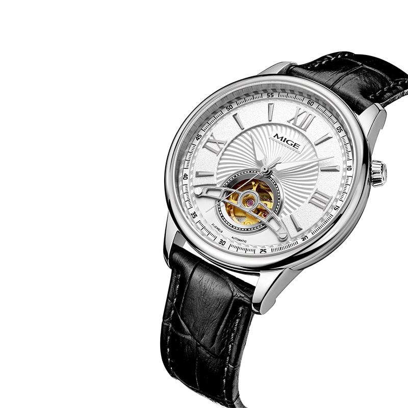 Mige 2018 Top Brand New Sale Mechenical Watch Skeleton Case Case - Տղամարդկանց ժամացույցներ - Լուսանկար 2