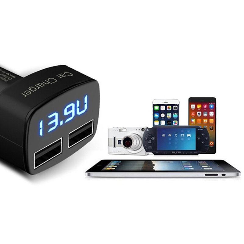 Dual USB autós töltő adapter voltmérő ampermérő teszter - Autóalkatrész - Fénykép 5