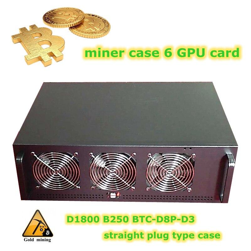 4U Server mining rig case Rackmount Computer Chassis USB miner ATX Video card Frame ETH/ETC/ZEC/Monero XMR 6 graphics card 1u 2u 3u 4u rackmount dg4565f server chassis rails