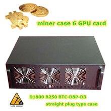 4U Server mining rig case Rackmount Computer Chassis USB miner ATX Video card Frame ETH ETC