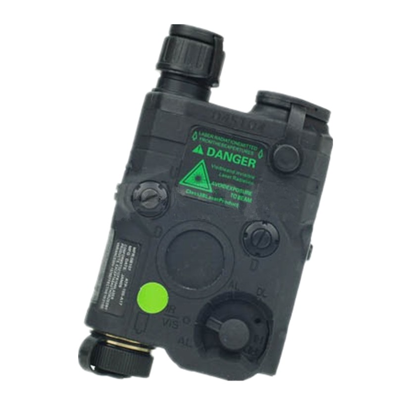 Tactical flashlight AN-PEQ-15 Upgrade Version LED White light Green laser with IR Lenses BLACK DE 0068 0069