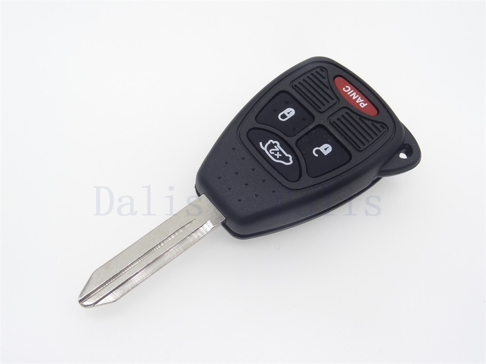 3+1 button Replacement Key Keyless Transponder Shell Pad Cover Fob Case For Chrysler without chip auto parts 1pc uncut blade