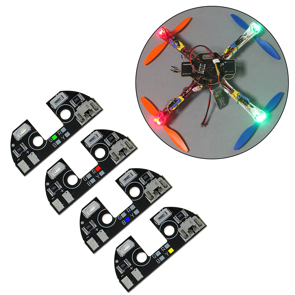 4pcs 5V LED Night Navigation Light High Power Light Rack LED Board With Cable For FPV Quadcopter F330 F450 F550 RC Drone