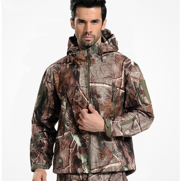 TAD 4.0 Gear Tactische Soft Shell Camouflage Buitenshuis Hike Jacket Mannen Army Militar Waterproof Hunter Kleding Set Military Jacket