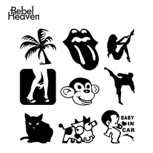 лучшая цена Rebel Heaven Funny Car Sticker JDM Cartoon Sexy Cat  CRAZYCOW Lips & Tongue Panty Dropper Vinyl Decal Fashion Car Assessoires
