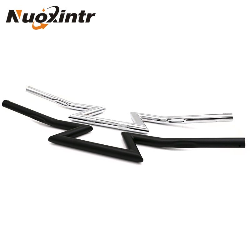 Nuoxintr 125MM Motorcycle Handlebar Z Bar Universal for Honda Yamaha Suzuki and Kawasaki Victory Chopper Cruiser Buoy motorcycle phone holder zipper pocket handlebar bracket mount universal for harley honda kawasaki yamaha cruiser chopper bobber
