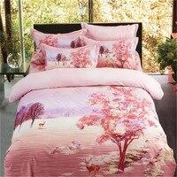 household luxury Flower pattern bedding High quality 4pcs 1pcs quilt cover/1pcs bed sheet/2pcs pillowcase free shipping