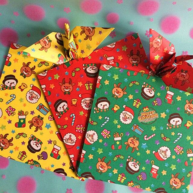 Pola Warna DIY Buatan Tangan Kertas Origami Crane Kertas Hadiah natal  Kerajinan Origami Kertas Lipat Berwarna 10dd917a17