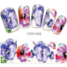 2018 New Models, Watermark Stickers, Chrysanthemums, Small Fresh Nail Applique, Stickers.YZW1405