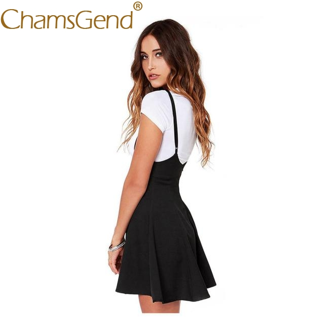 Fashion dresses woman party night mini Black With Shoulder Straps Pleated Dress summer dresses casual girl beach Feb6