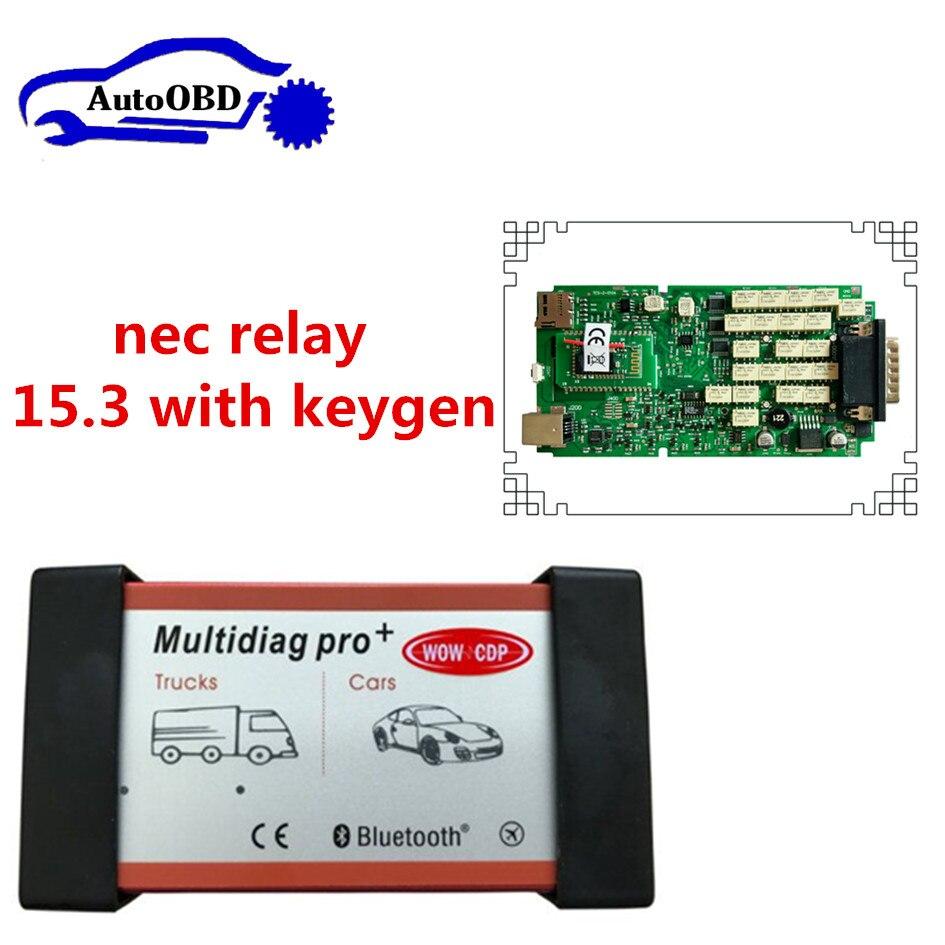Цена за Multidiag Pro с Bluetooth одной платы TCS Pro CDP TCS плюс 2015. R3 с Keygen OBDII OBD2 инструмент диагностики для car/грузовик