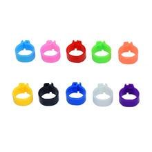 100 шт десять цветов голуби кольца 8 мм байонет идентификационное кольцо открытие голубь кольцо цвет кольцо для лапки голубя принадлежности для голубей