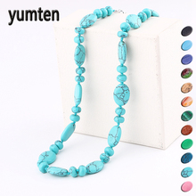 Yumten Crystal Necklace Women Stone Jewelry Men Female Choker Male Natural Power Gem Reiki Water Drops Statement Accessories цена 2017