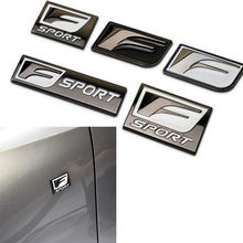 Para lexus f esporte logotipo do carro adesivo emblema emblema do metal decalque para is gs rx rx300 rx350 es is250 es350 lx570 ct200 estilo do carro