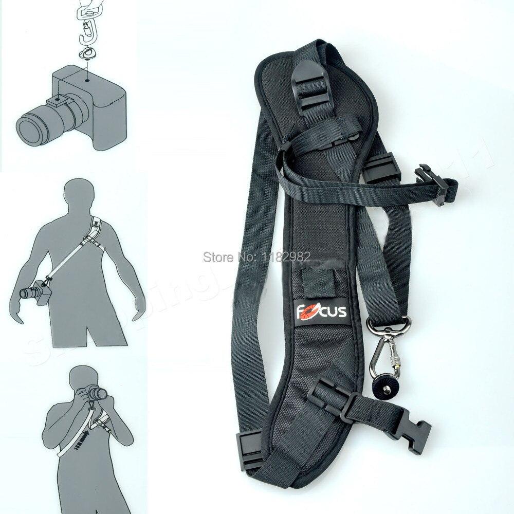 DSLR Caméra F-1 Rapide Rapide Carry Speed Sling Strap pour Canon 5 DIII 6D 7D 7D2 80D pour nikon D5500 D7100 D750 D80 D90 pour SONY