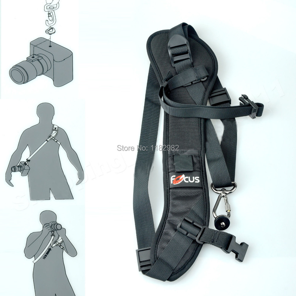 DSLR Camera Focus F-1 Quick Rapid Carry Speed Sling Strap for Canon 5DIII 6D 7D 7D2 80D for nikon D5500 D7100 D750 D80 for SONY