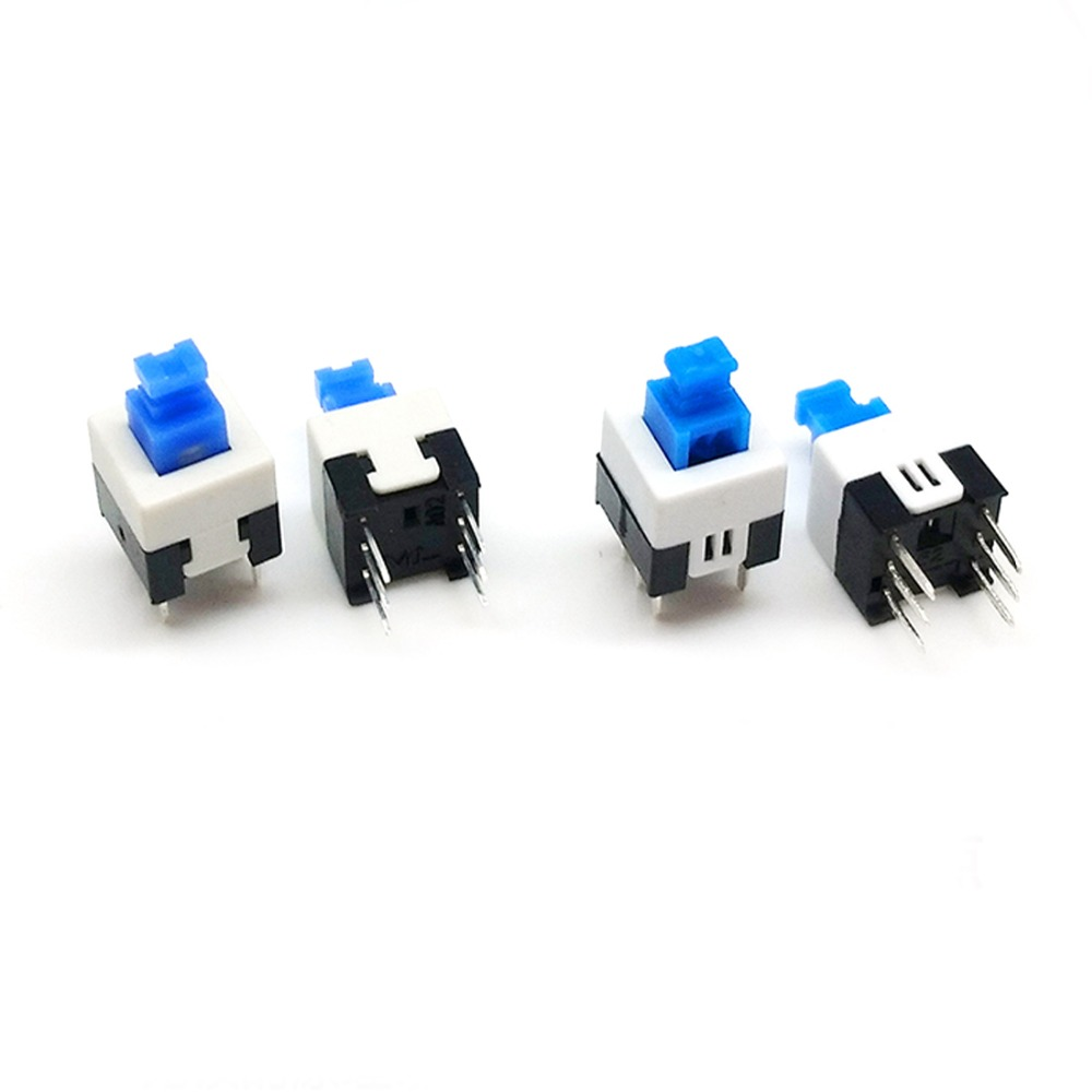 50pcs Mini Square Switch Push Button Switch 6 Pins On Off