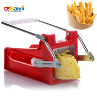 French Fry Potato Vegetable Cutter Stainless Steel Blade Kitchen Fruit Vegetable Slicer Tools Easy Cleaning Kitchen Utensil
