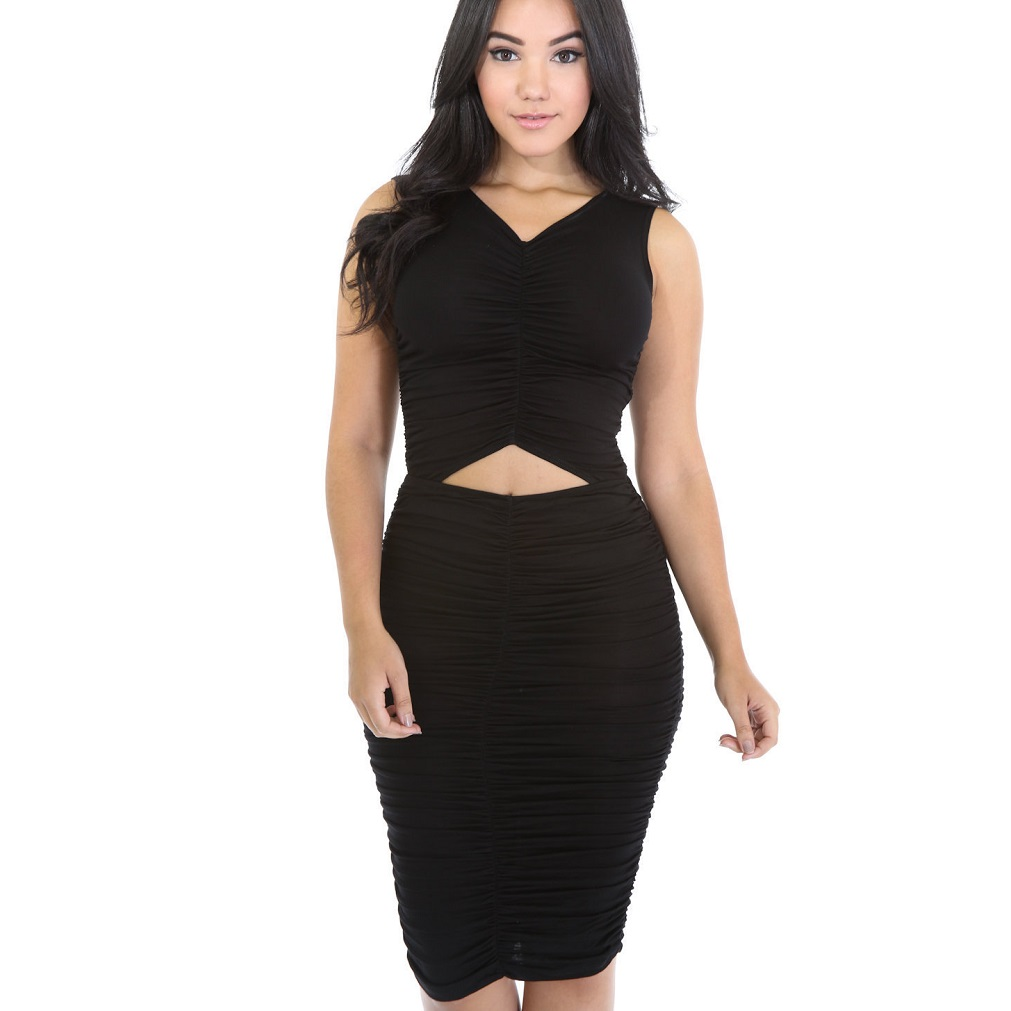 981206151842 iRicheraf Summer Beach Dress Women Clothing Sexy V-neck Slim Sleeveless  Fashion High Elastic Wrap Mini Dresses Hot Sale Vestidos