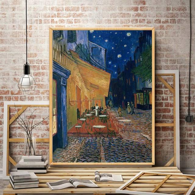 Cafe Restaurant Church Vincent Van Gogh Artwork Art Silk Poster Home ...