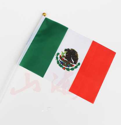 Bandera mexicana, banderas de la mano de méxico, ola mano banderas ...