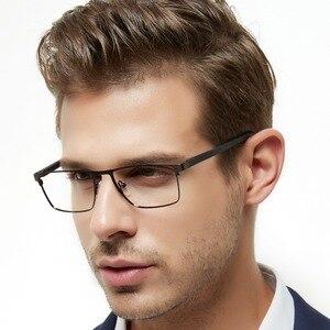 Image 1 - OCCI CHIARI גברים משקפיים מסגרת משקפיים אופטיים מסגרות ברור עדשת זכר משקפיים Oculos דה גראו יום אב מתנה W CRIFO