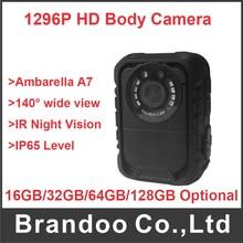 Discount! IP65 waterproof body worn camera law enforcement camera