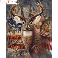 5d Diamond Painting Full Drill Square Diamond Embroidery Deer Pictures Of Rhinestones Everything For Handmade Home Decor