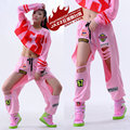 2016 New fashion Brand Sweatpants Costumes wear stage Hollow Out  Patches trousers hole Pink Harem Hip Hop Dance Pants