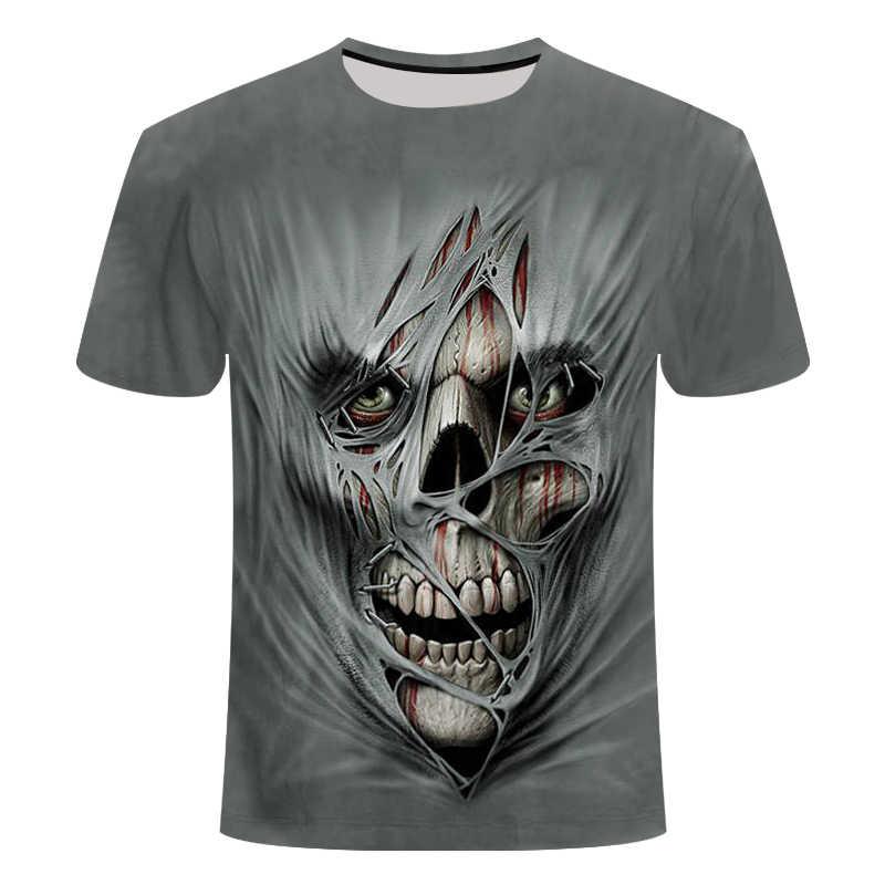 2019 новый дизайн, футболка для мужчин/женщин, тяжелый металл, грим, жнец, Череп, 3D принт, футболки, повседневный стиль Харадзюку, футболка, уличная одежда