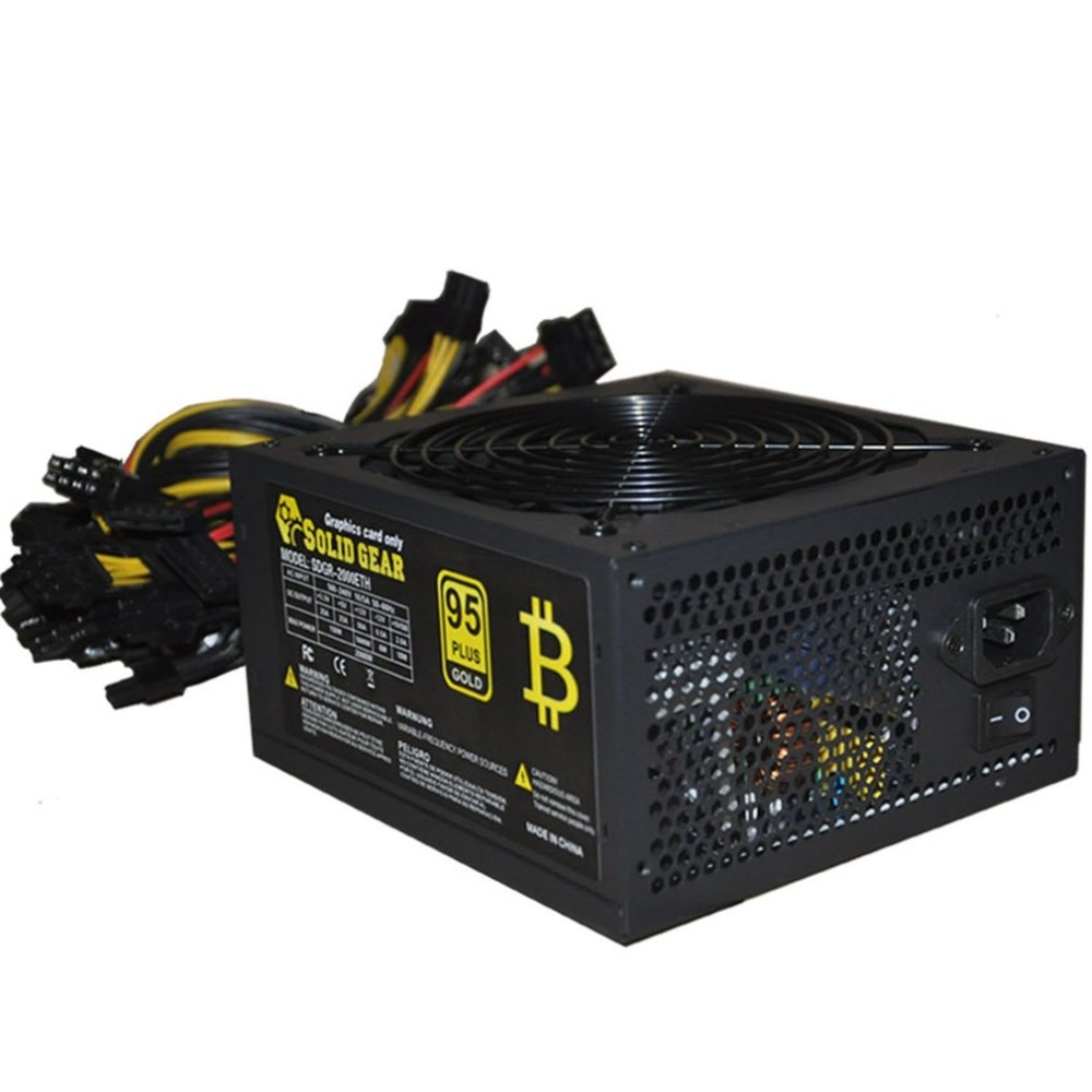 Professional 1800W Max Mining Machine Power Supply For ATX For Gold Mining For ETH For BTC For Ethereum Support Up To 6 GPU new original gold power 1800w ethereum eth power supply for r9 380 rx 470 rx480 6 gpu cards 6 months warranty free shipping