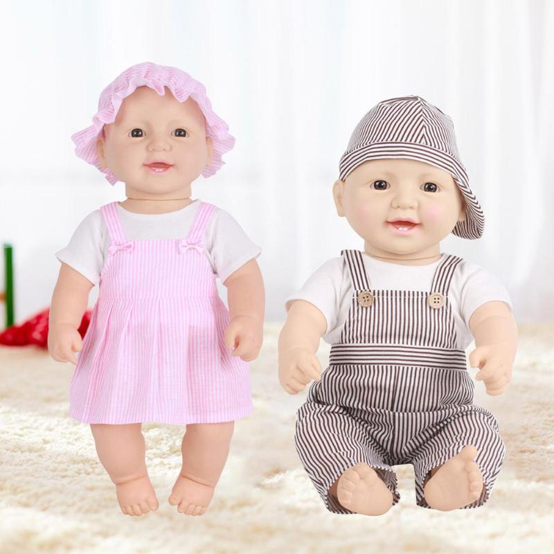 Vinyl Doll Lifelike Simulation Baby Cute Playmate for Toddler Kids Toy Gift Simulation Doll Toys for Children Educational Gift