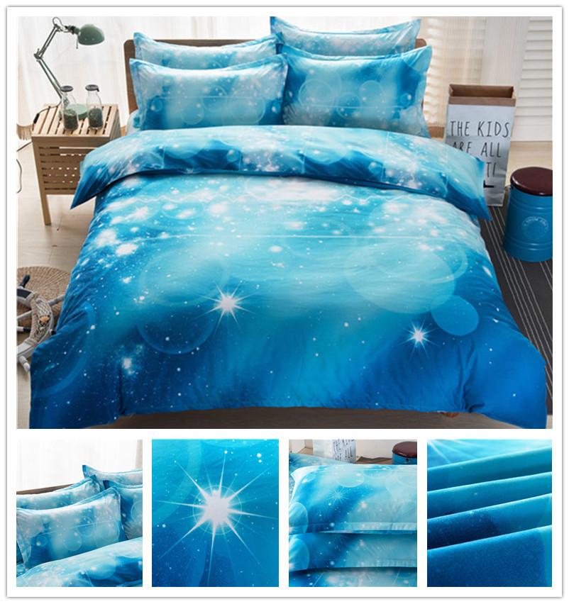 3D tähistaeva piltidega voodipesukomplektid