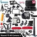 Xiaomi yi 4 k acessórios monopé selfie vara tripé polvo para xiaomi yi 4 k yi2 ação câmera de ação internacional 2 ii GS27