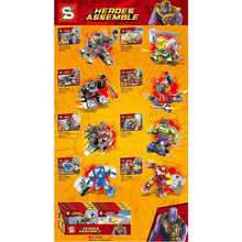 8pcs/set Avengers 4 Legoings Super Heroes Thanos Iron Man Hulk Figures Suit Building Blocks Bricks Toys For Children Gifts dr tong super heroes d928 nexus knights figures clay jestro macy axl lance building blocks bricks diy toys children gifts