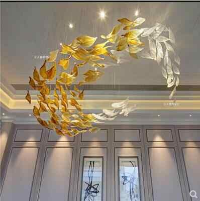 ガラス装飾シャンデリア砂テーブル会議室フロントデスクリビングルームダイニングルームアートランプロビー営業所ホテ