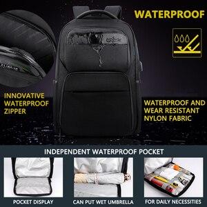 Image 2 - Shockproof Mens USB Charging Anti Theft Backpacks Waterproof 15.6 inch Black Male Laptop Bagpacks Multifunction Travel Bags