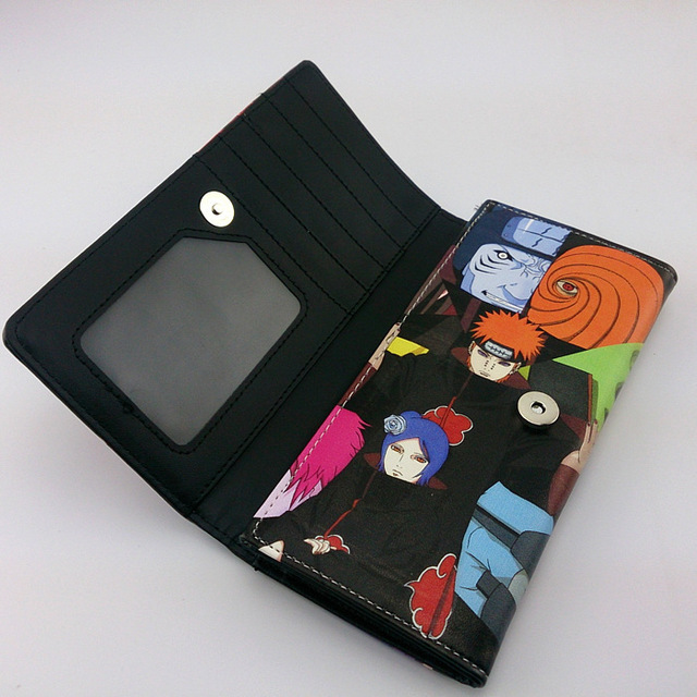 Naruto Colorful Long Style PU Wallet