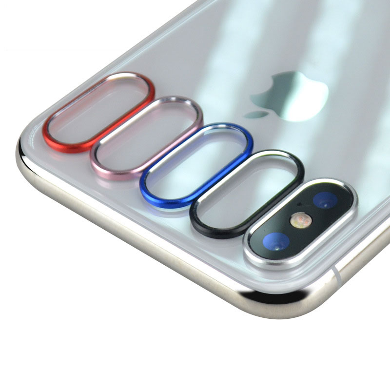 2pcs/lot Lens Protector Circle For iPhone X Back Camera Protective Ring Aluminum Alloy D ...
