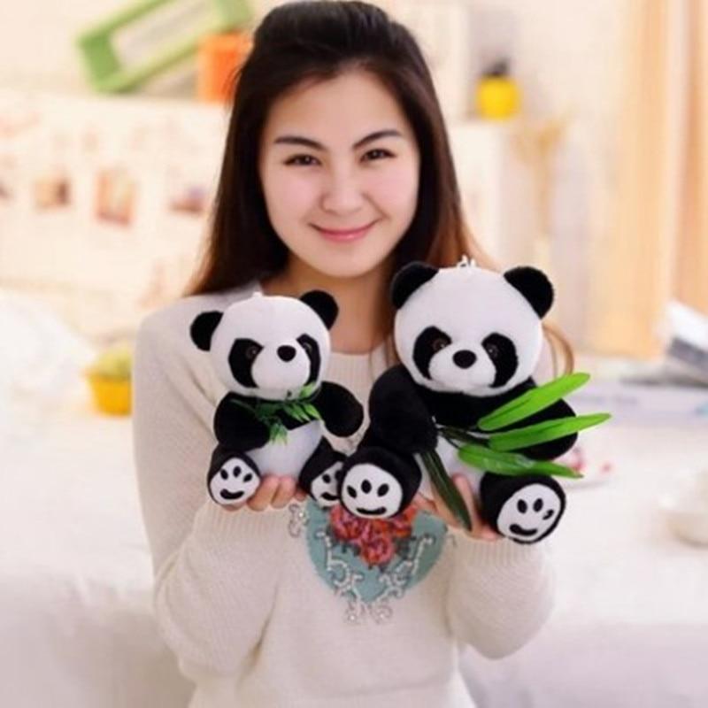 Topdan və satılan panda asma peluş oyuncaq mini ölçülü Panda doll 12cm ölçüsü 20pcs / lot